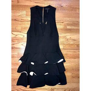 BCBGMAXAZRIA SIZE 10, Skater Black and white dress